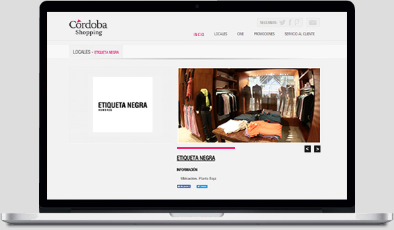 Cordoba Shopping - Web Mobile